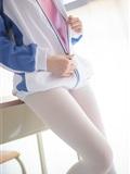 [森萝财团]萝莉丝足写真 R15-012 白丝粉红少女(8)