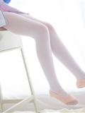 [森萝财团]萝莉丝足写真 R15-012 白丝粉红少女(11)