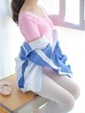 [森萝财团]萝莉丝足写真 R15-012 白丝粉红少女(20)