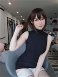 Coser小姐姐白銀 – 黑色包臀裙(1)