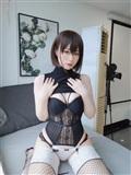 Coser小姐姐白銀 – 黑色包臀裙(9)