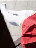 神楽坂真冬套图 - 少女と自然と白い靴下