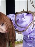 NO.077 誘惑紫色空姐 禁忌攝影繩藝(2)