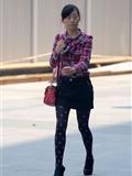 [户外街*拍] 2013.09.16 短裙斑点黑丝裤高跟少妇