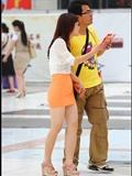 [户外街*拍] 2013.09.23 黄色紧身裙肉色高跟美 女