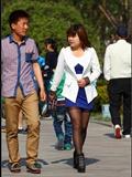 [户外街*拍] 2013.09.27 蓝裙黑丝丰满少妇
