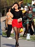 [户外街*拍] 2013.09.12 超靓的韩国黑丝女孩 美姬