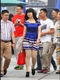 [户外街*拍] 2013.11.03 海军蓝短裙肉*丝美|女